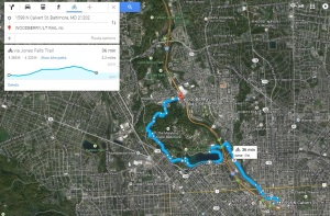 Jones Falls Trail from Penn Station to the Woodberry Light Rail Station (part 2)