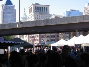 Sunday morning market  Image from Jeff La Noue