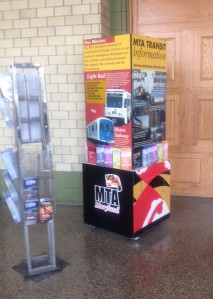 Adding something like this MTA kiosk that focused on Baltimore trails and the bike network would be great at Penn Station and the Visitors' Center