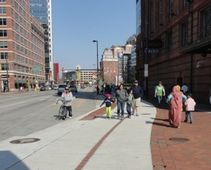 Encouraging walkers to use the sidewalk and bicyclists to use the trail in the crowded harbor would benefit both groups.