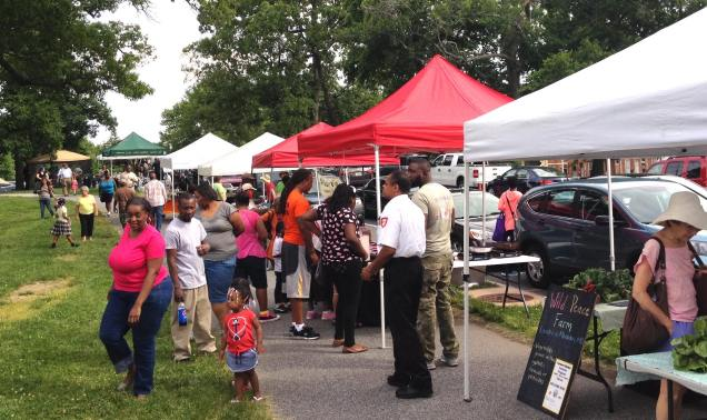 Druid Hill Farmers Market Image by Auchentrolley Terrace